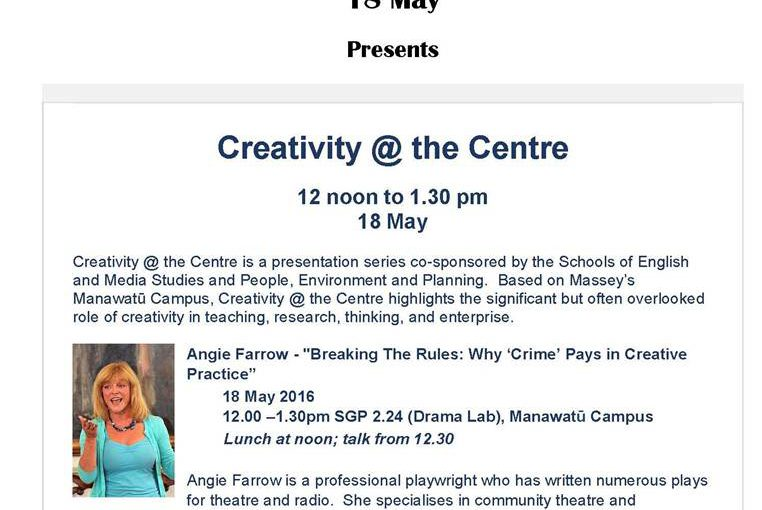 Arts on Wednesday 18th May: Creativity @ the Centre